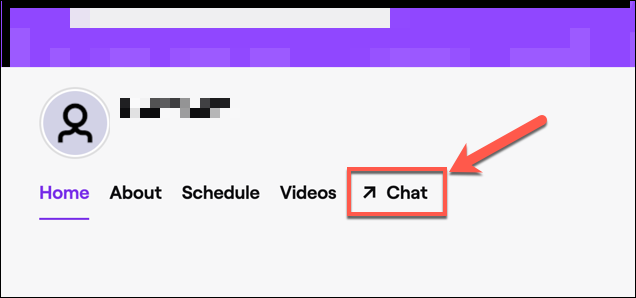 """Click """"Chat"""" to access your channel's Twitch chat."""