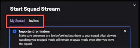 "Make sure ""My Stream"" tab is selected."