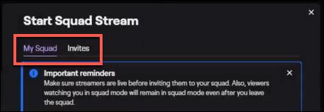"Make sure ""My Stream"" tab is selected."