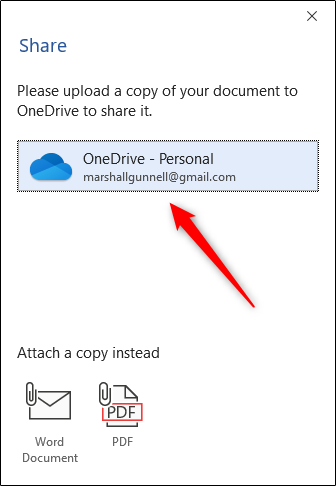 Upload document to OneDrive