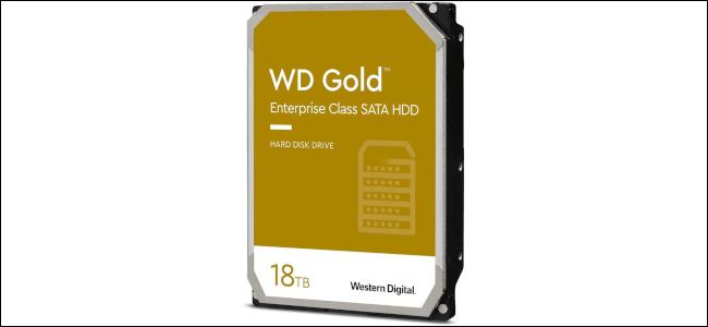 A WD 18 TB hard drive.