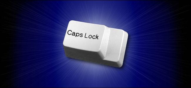 A Caps Lock key.