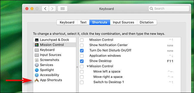 "Click ""App Shortcuts."""