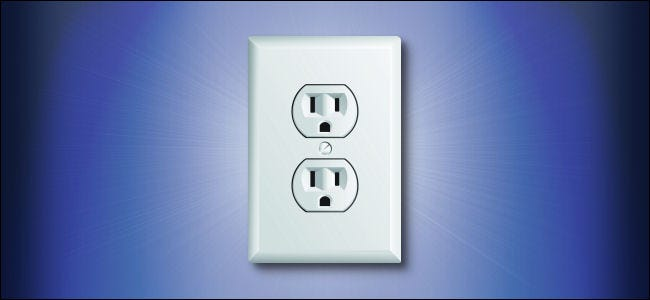 An American electrical wall outlet.