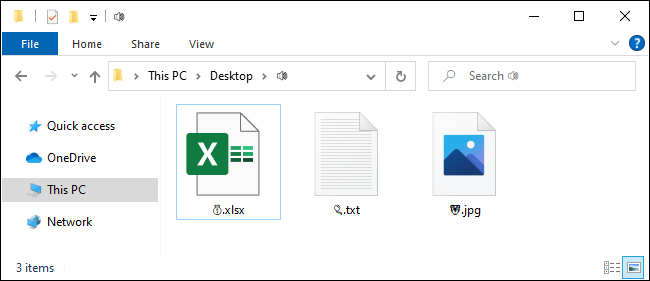 Files with emoji in their names on Windows 10.