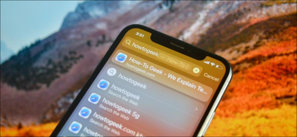 iPhone User Using Spotlight to Search For Websites, Apps, and Shortcuts
