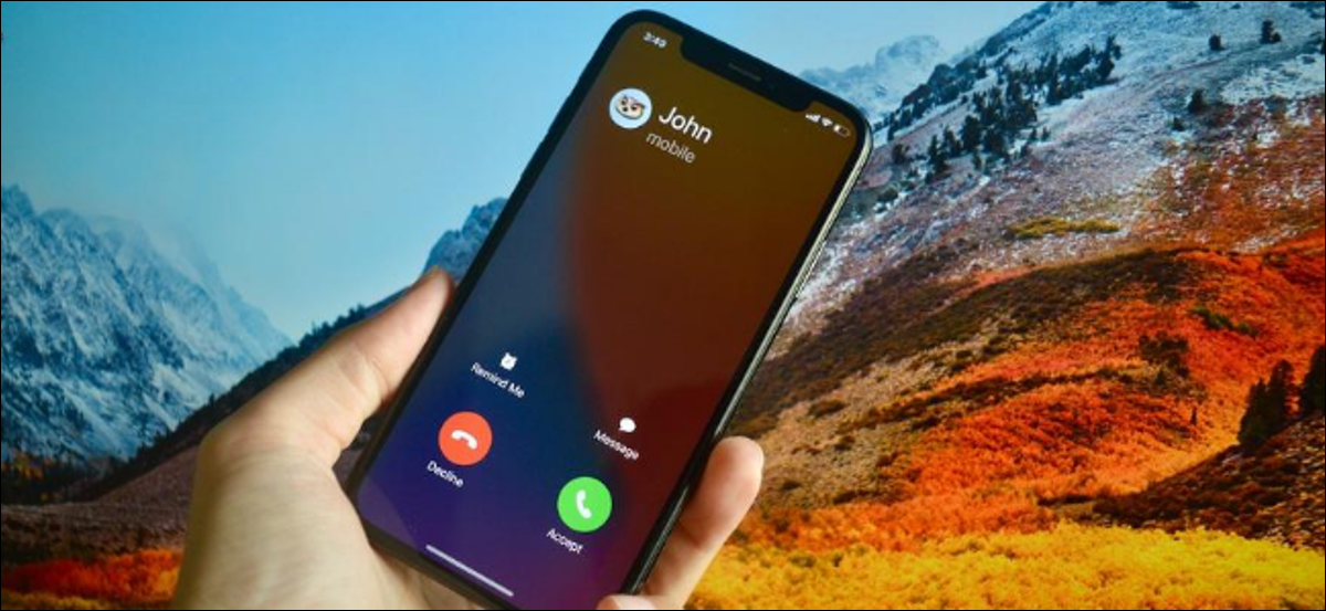iPhone User With Full Screen Incoming Call