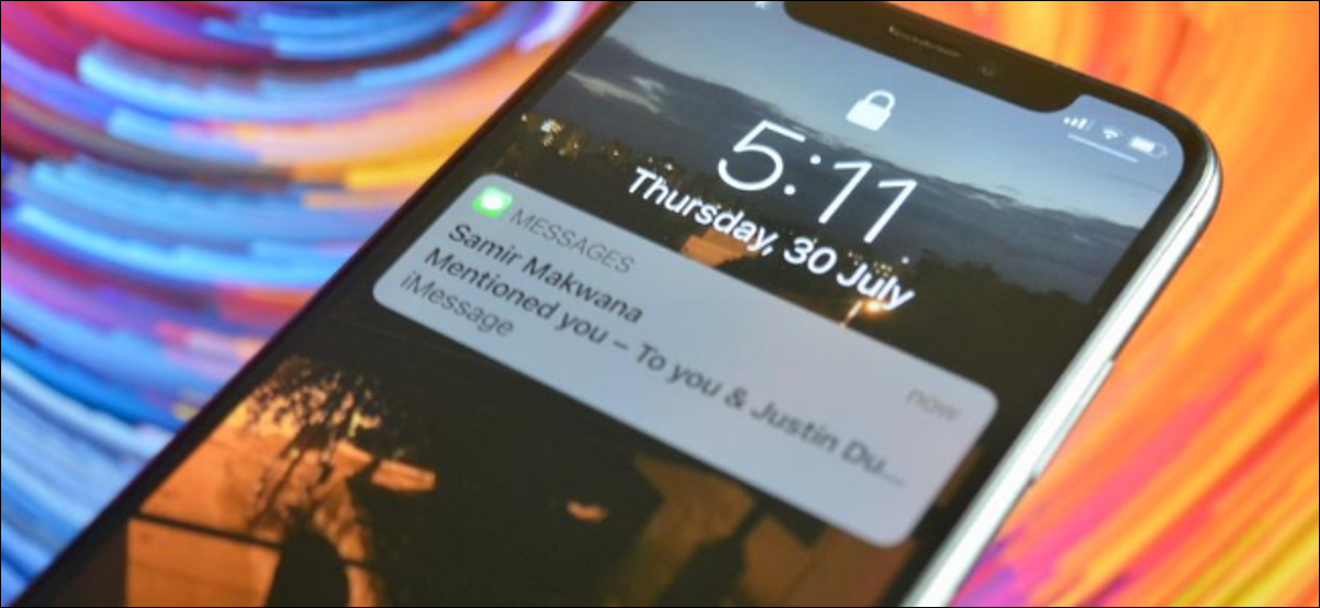 iPhone notification for iMessage mention in a group thread