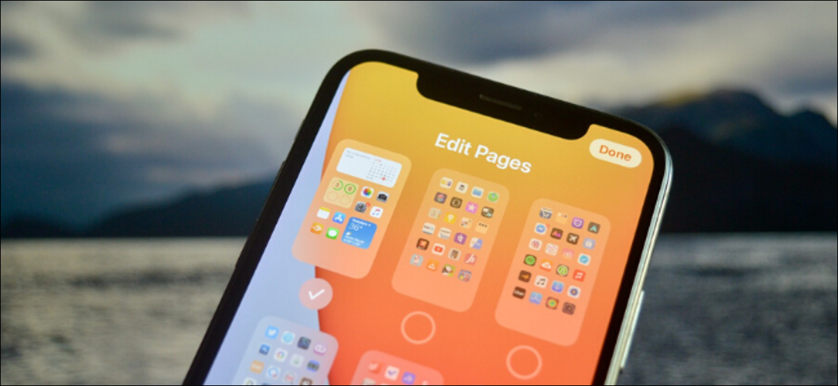 iPhone user removing apps from the Home screen by editing pages