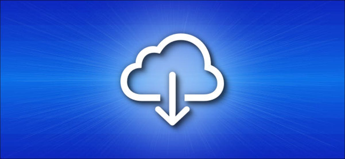 The iCloud Download icon.