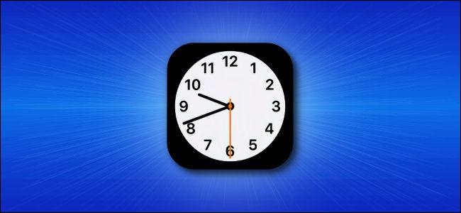Icono de la aplicación Apple iOS Clock