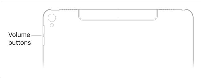 Cambie el volumen de Siri con los botones de hardware en el iPad.