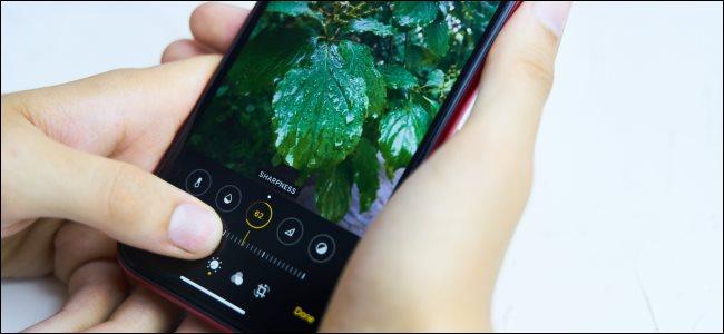 Editar una foto en un iPhone.