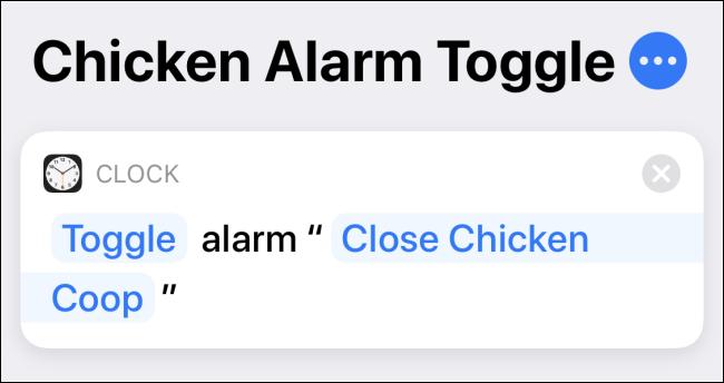 Hacer un atajo de alternancia de alarma en la aplicación Atajos en iPhone