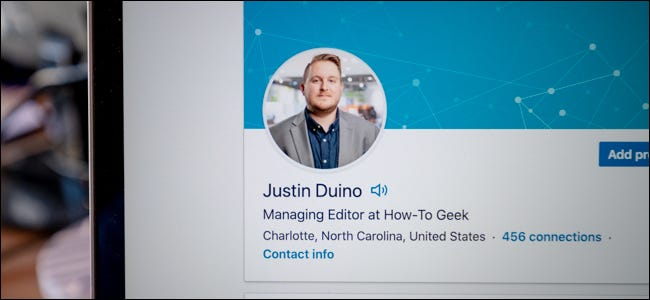 LinkedIn profile with name pronunciation