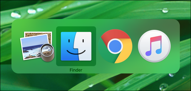 Switching between open apps on Mac with Command+Tab