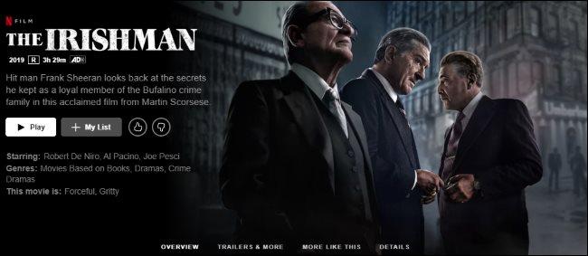 The Irishman on Netflix