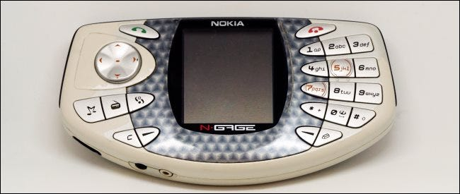 Un dispositivo Nokia N-Gage.