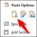 past clipboard icon in menu