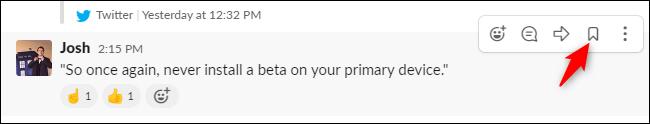 Guardar un mensaje para más tarde en Slack.