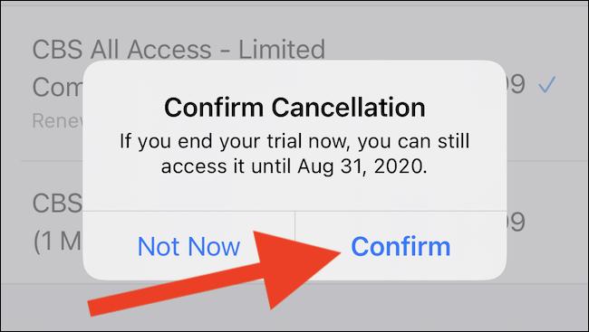 "Select the ""Confirm"" button"