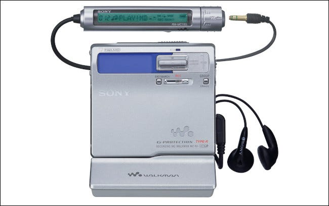 A Sony MZN1 Portable NetMD MiniDisc Walkman.