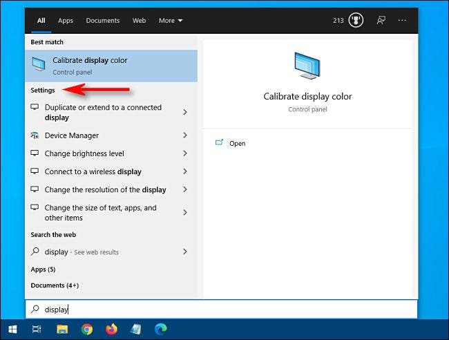 "Click ""Settings"" in the Windows 10 Start menu."