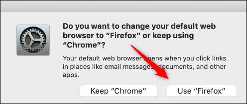 use el botón de confirmación de firefox