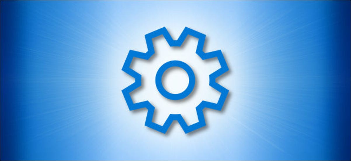 Windows Settings Gear Icon