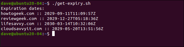 ./get-expiry.sh in a terminal window.