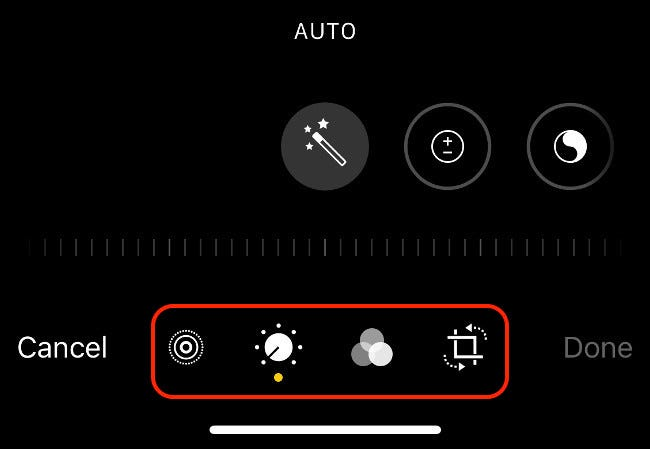 Opening a Photo in Edit Mode in iOS Photos App