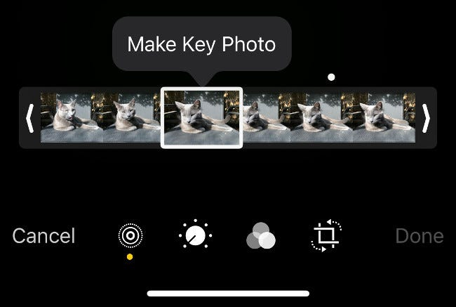 Make New Key Photo from Live Photo in iOS Photos App