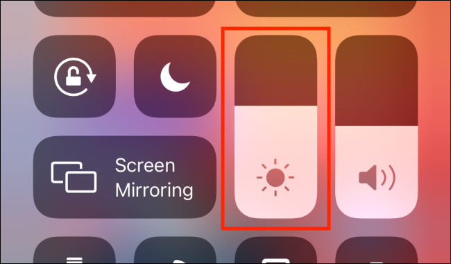 Swipe on the Brightness Bar from Control Center
