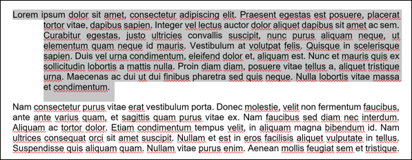 An example of text from a Microsoft Word document, with a hanging indent applied to the first paragraph.