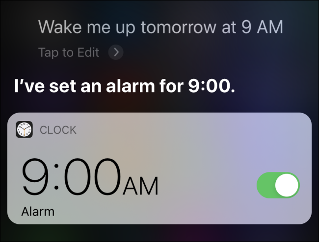 Set up an alarm on iPhone with Siri