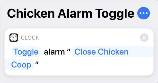 Create an alarm to toggle shortcut in the shortcuts app on iPhone