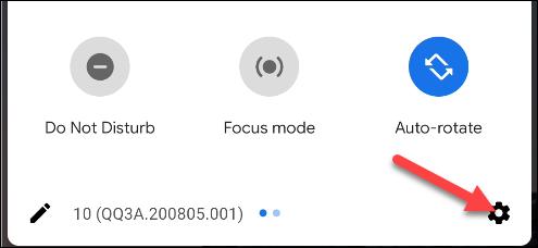 atajo de configuración de Android