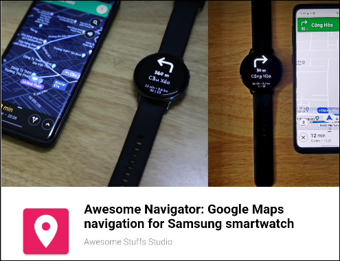 The Awesome Navigator app on the Samsung Store.