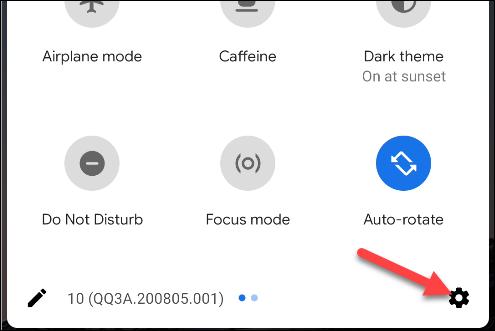 """Toca el ícono de ajustes para abrir """"Configuración""""."""