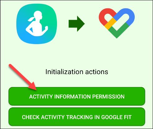 "Tap ""Activity Information Permission."""