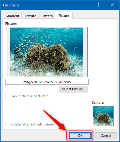 """Select a picture, and then click """"OK."""""""