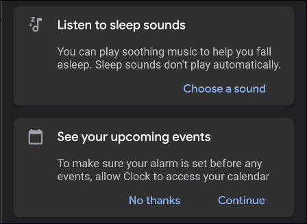 """The """"Bedtime"""" overview menu."""