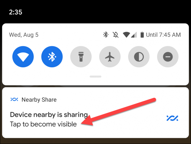 nearby share notification