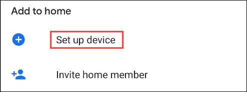 google home set up device