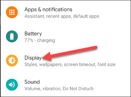 android display settings