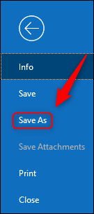 """Click """"Save As."""""""