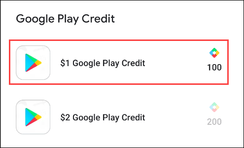 google play points for credit