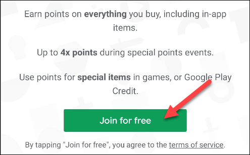 join google play points for free