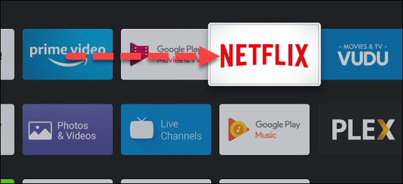 Now use the directional buttons on your remote to move the app in the list.