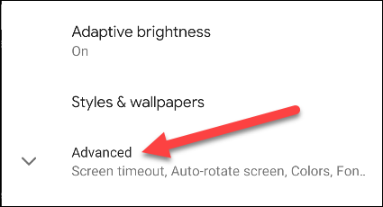 android display settings advanced